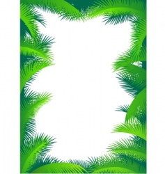 Palm border vector