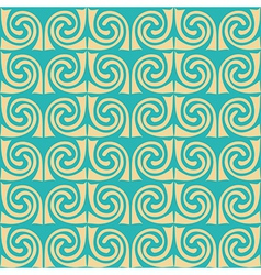 Abstract ornament waves mosaic seamless texture vector