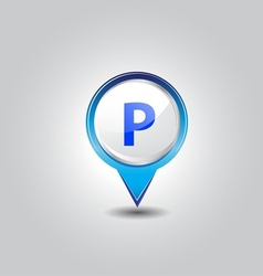 Parking pins vector