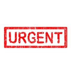 office stamp urgent vector image