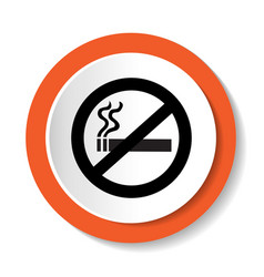 Icon no smoking vector