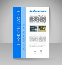 Site layout for design - flyer vector