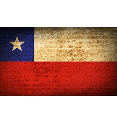 Flags chile with dirty paper texture vector