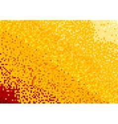 Mosaic background in orange color vector