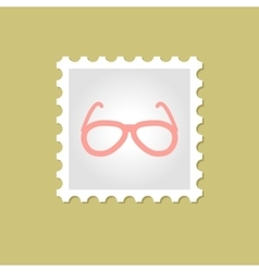 Sunglasses stamp vector