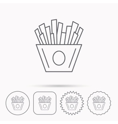 Chips icon fries fast food sign vector
