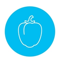 Bell pepper line icon vector