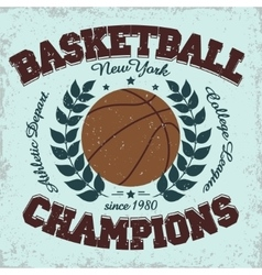 Basketball team emblem vector