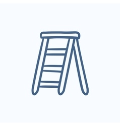 Stepladder sketch icon vector
