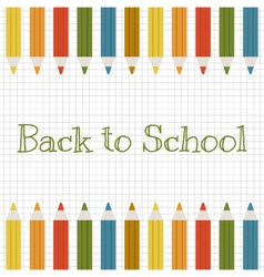 back to school background with color pencils vector image