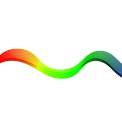Color abstract wave vector image vector image