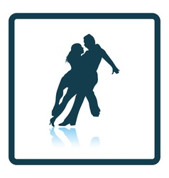 Dancing pair icon vector image vector image