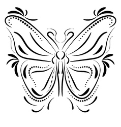Decorative butterfly element tattoo vector