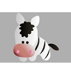 drawing of a cartoon zebra vector image