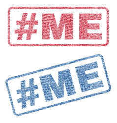 Hashtag me textile stamps vector