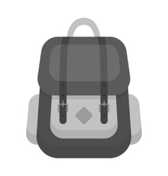 Hipster backpack icon in monochrome style isolated vector image vector image