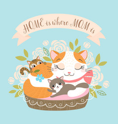 home is there mom is vector image