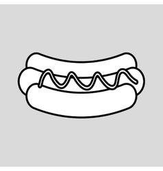 hot dog icon design vector image vector image