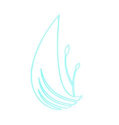 Isolated spa logo vector