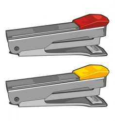 isolated staplers vector image vector image