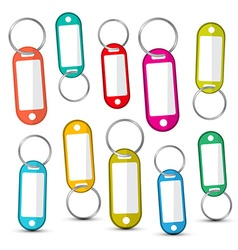 Key holder colorful empty key holders set isolated vector