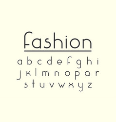 modern fashion font and alphabet vector image vector image