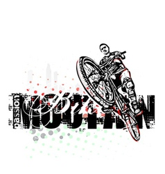 Mountain bike poster background vector