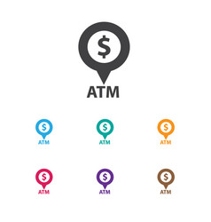 of financial symbol on atm vector image vector image