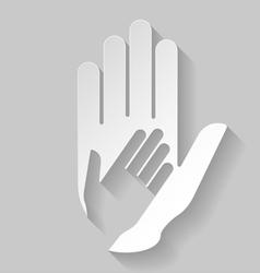 Paper helping hand vector