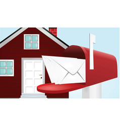 Post box vector