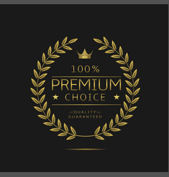 Premium choice label vector