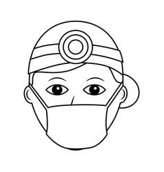 professional surgeon medical uniform clothes vector image