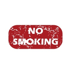 Red grunge no smoking logo vector