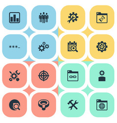 set of simple search icons vector image
