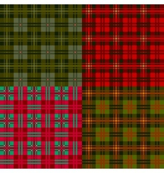 set plaid patterns tartan fabric textile vector image vector image
