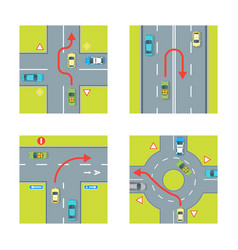 Traffic conditions set vector