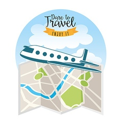 travel concept design vector image