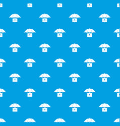 Umbrella and business case pattern seamless blue vector