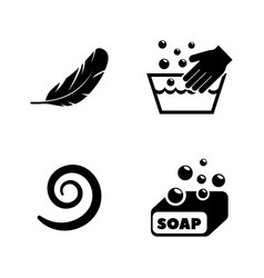 wash simple related icons vector image vector image