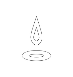Water drop and spill icon outline style vector image vector image
