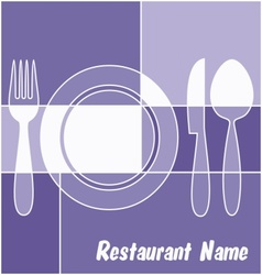 White and blue restaurant menu vector image vector image