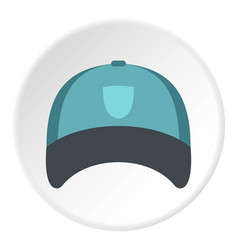 Winter hat icon circle vector