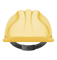 Yellow safety helmet isolated on a white vector