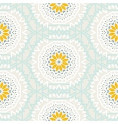 Bohemian pattern with big abstract flowers vector image