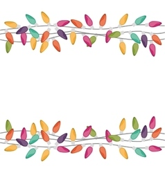 Border with extension cord lights christmas vector