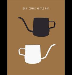 drip coffee kettle sketch vector image