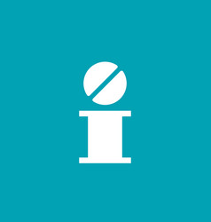 Letter i pill logo icon design template elements vector