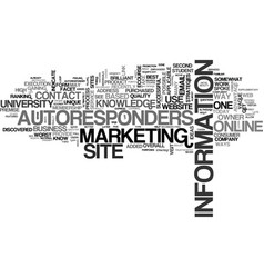 Autoresponders an online university text word vector