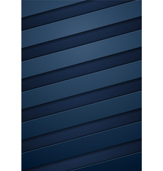 Abstract blue tech corporate stripes background vector