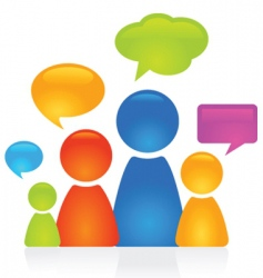 family dialog vector image